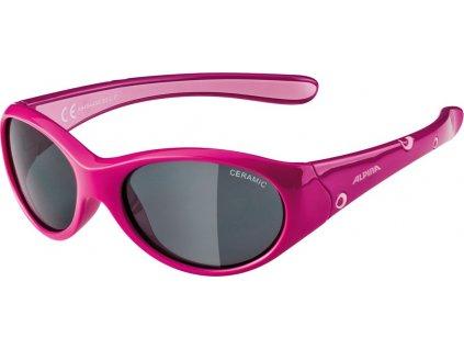 Dětské sluneční brýle Alpina Flexxy Girl dívčí růžové