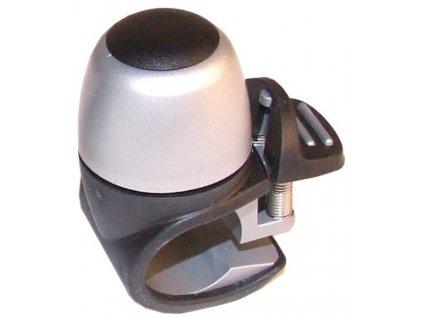 Mini zvonek na kolo Widek Compactbell II Alu stříbrný