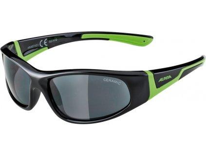 Dětské sluneční brýle Alpina Flexxy Junior S3 černé zelené