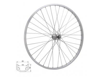 Zapletené kolo zadní Remerx RMX219 622x19 stříbrné