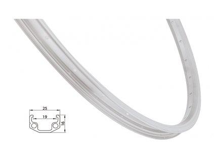 Ráfek REMERX RMX219 622x19 stříbrný 36 děr