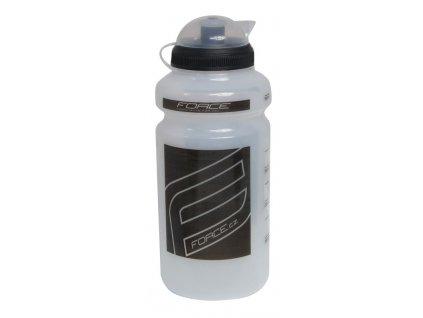 Cyklistická láhev FORCE F čirá černá 0,5l