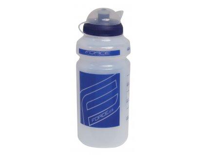 Cyklistická láhev FORCE F čirá modrá 0,5l