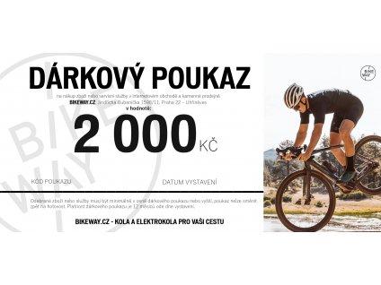 Dárkový poukaz BIKEWAY 2000,-Kč kola elektrokola cyklo