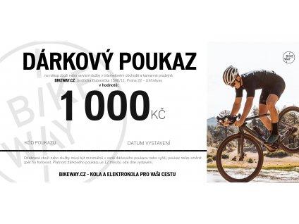 Dárkový poukaz BIKEWAY 1000,-Kč pro cyklistu kola elektrokola