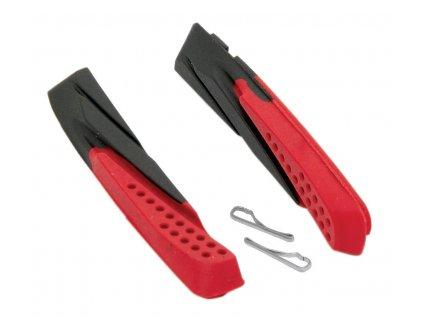 Brzdové gumičky FORCE černo červené 70mm