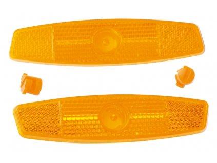 Odrazky na jízdní kolo FORCE 2 ks do drátů, oranžové