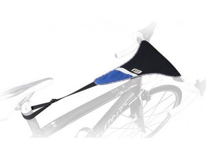 Návlek na rám kola – potítko FORCE trenažér černý modrý