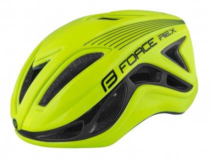Silniční cyklistická přilba FORCE REX fluo černá