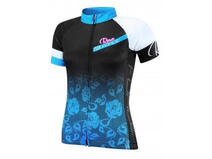 Dámský cyklistický dres FORCE ROSE černo modrý