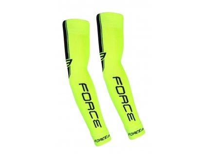 Cyklistické pletené návleky na ruce FORCE fluo