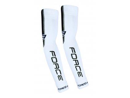 Cyklistické pletené návleky na ruce FORCE bílé