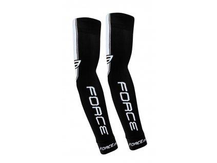 Cyklistické pletené návleky na ruce FORCE černé