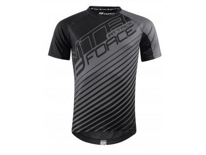 Cyklistický dres FORCE MTB ATTACK černý šedý volný