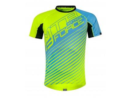 Cyklistický dres FORCE MTB ATTACK fluo modrý volný
