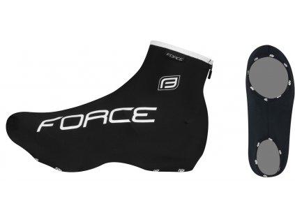 Návleky na cyklistické tretry FORCE LYCRA černé