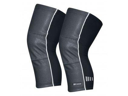 Cyklistické návleky na kolena FORCE WIND X černé