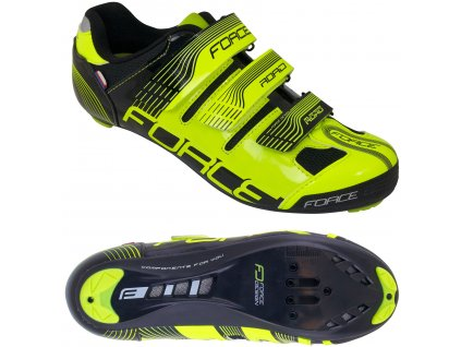 Cyklistické tretry FORCE Road fluo
