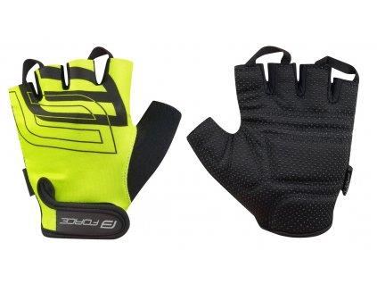 Cyklistické rukavice na kolo FORCE SPORT fluo