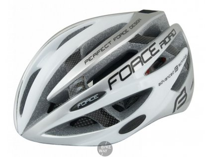 Silniční cyklistická přilba FORCE ROAD bílo-šedá