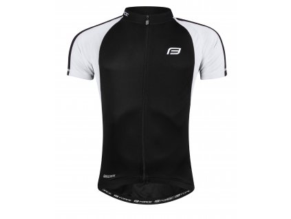 Cyklistický dres FORCE T10 černý bílý
