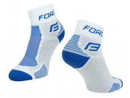 Cyklistické ponožky FORCE 1 bílé modré