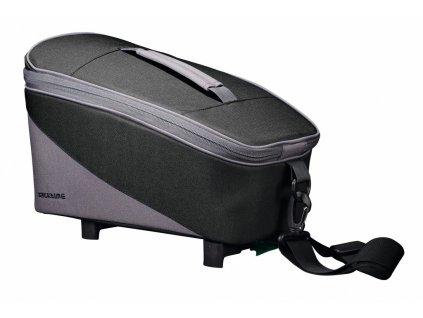 Brašna na nosič Racktime Talis černá/šedá, včetně Snapit adaptéru