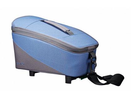 Brašna na nosič Racktime Talis modrá/šedá, včetně Snapit adaptéru