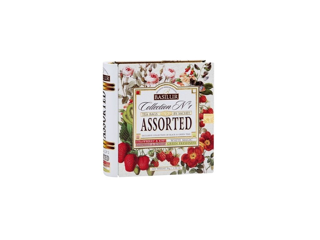 Čajová kniha -zelené a černé aromatizované čaje, 4 druhy 56g