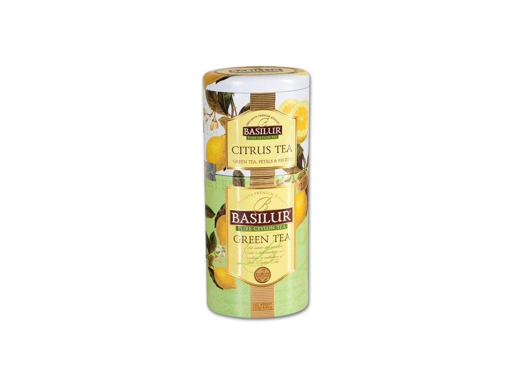 Čaj 2v1 Citrus & Green plech 125g