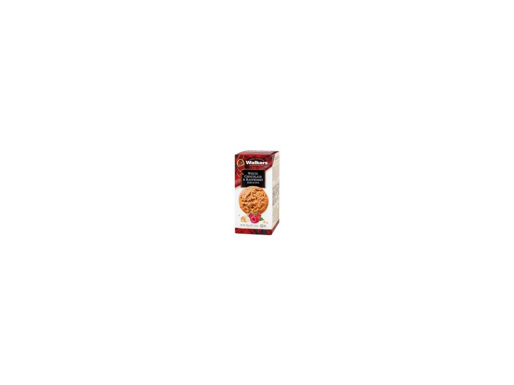 Sušenky s kousky malin a bílé čokolády 150g