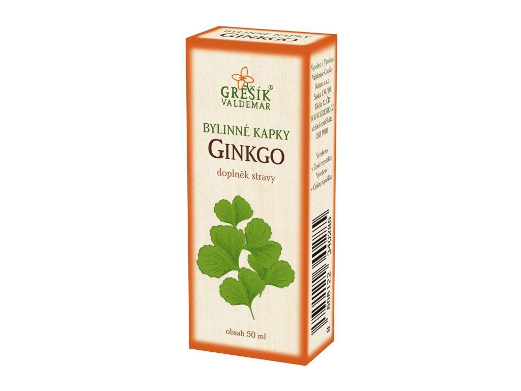 Ginkgo kapky 50ml