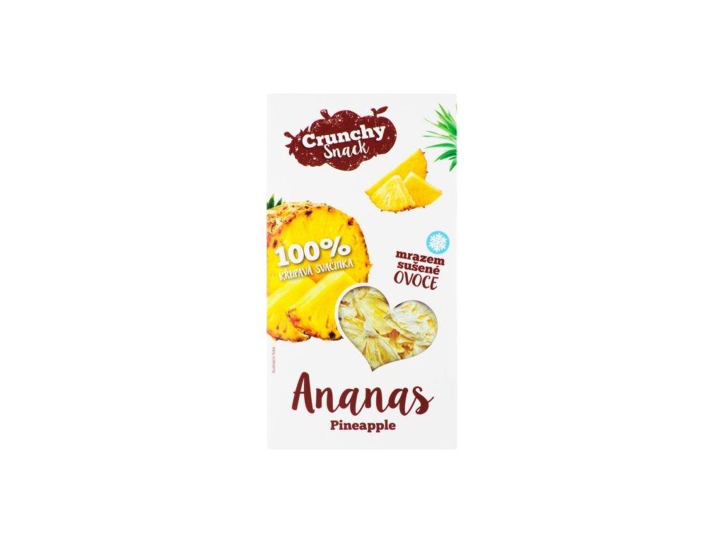 Mrazem sušené kousky ananasu 20g