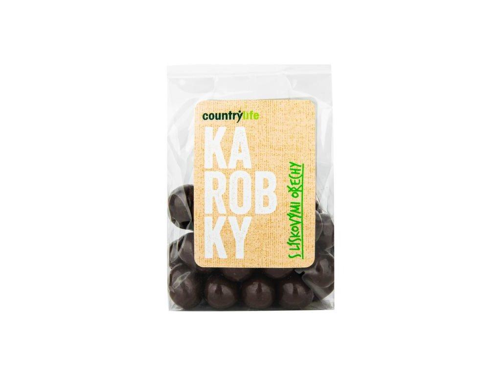 Karobky s lískovými ořechy 100 g
