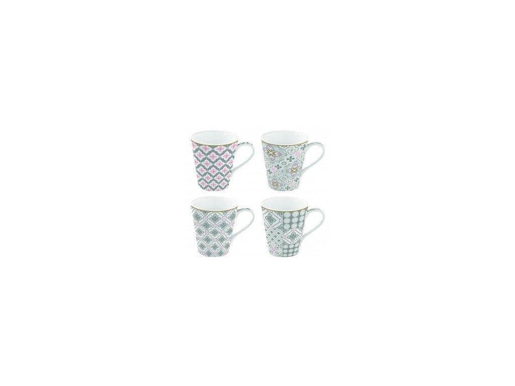 Porcelánové hrnky  Tiles Grey
