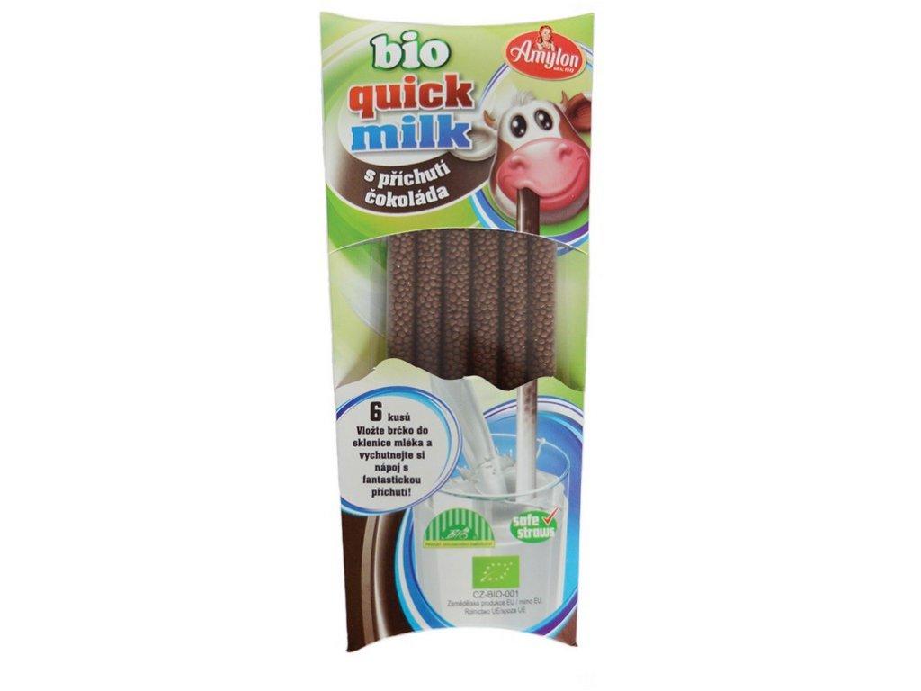 Magická brčka do mléka s příchutí čokoláda 6x6g