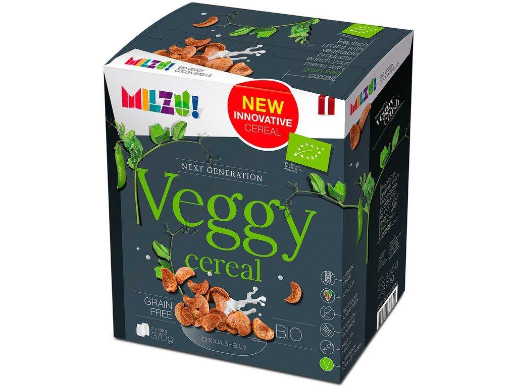 Bezobilné Veggy Cereálie Kakaové mušličky 370 g