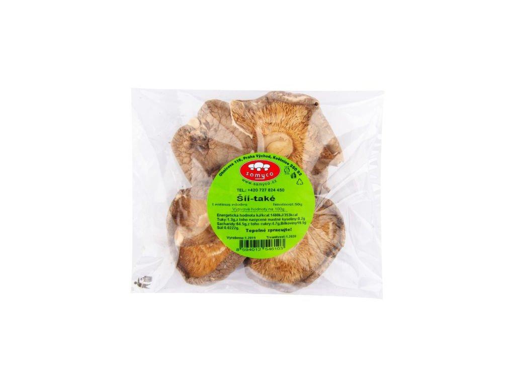 Houby sušené shiitake 50g