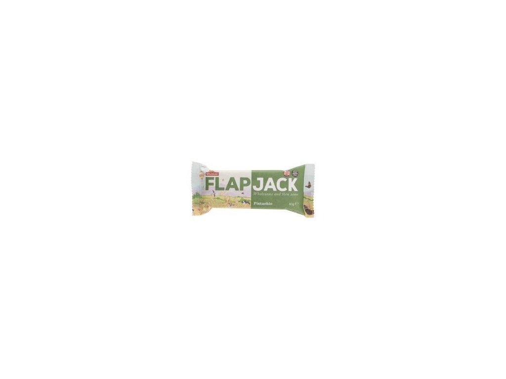 Flapjack ovesný pistácie, bezlepkový 80g