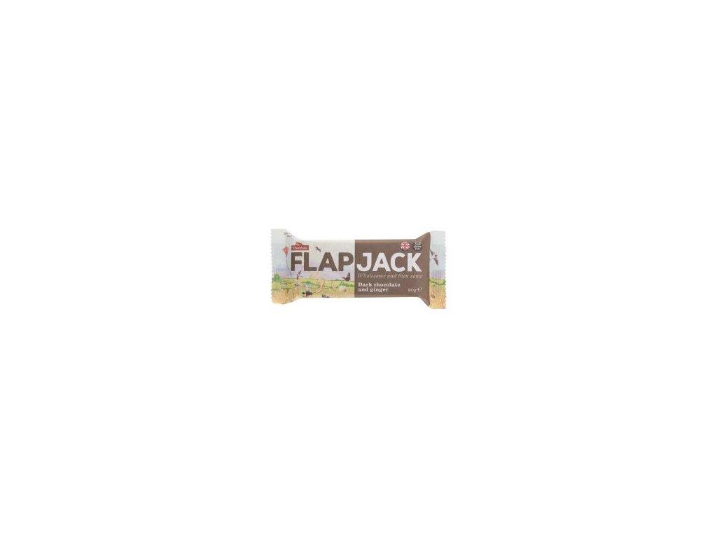 Flapjack ovesný čokoláda se zázvorem, bezlepkový 80g