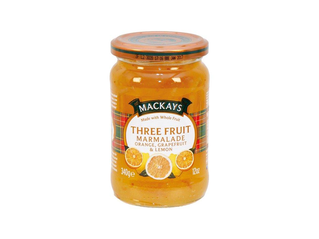 Pomerančová zavařenina s grapefruitem a citrónem
