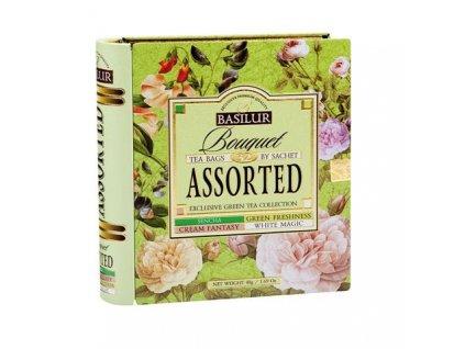Čajová kniha - zelené aromatizované čaje, 4 druhy 64g