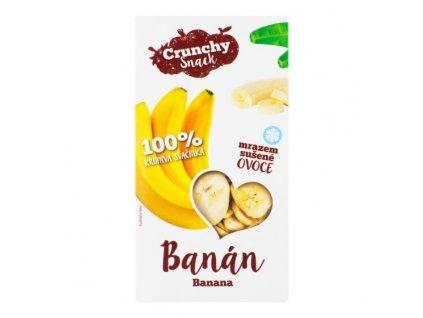 Mrazem sušené plátky banánů 30g