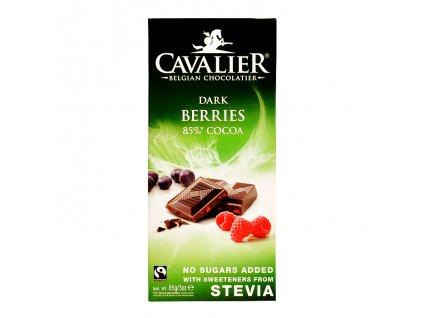 Čokoláda hořká lesní směs se stévií 85g