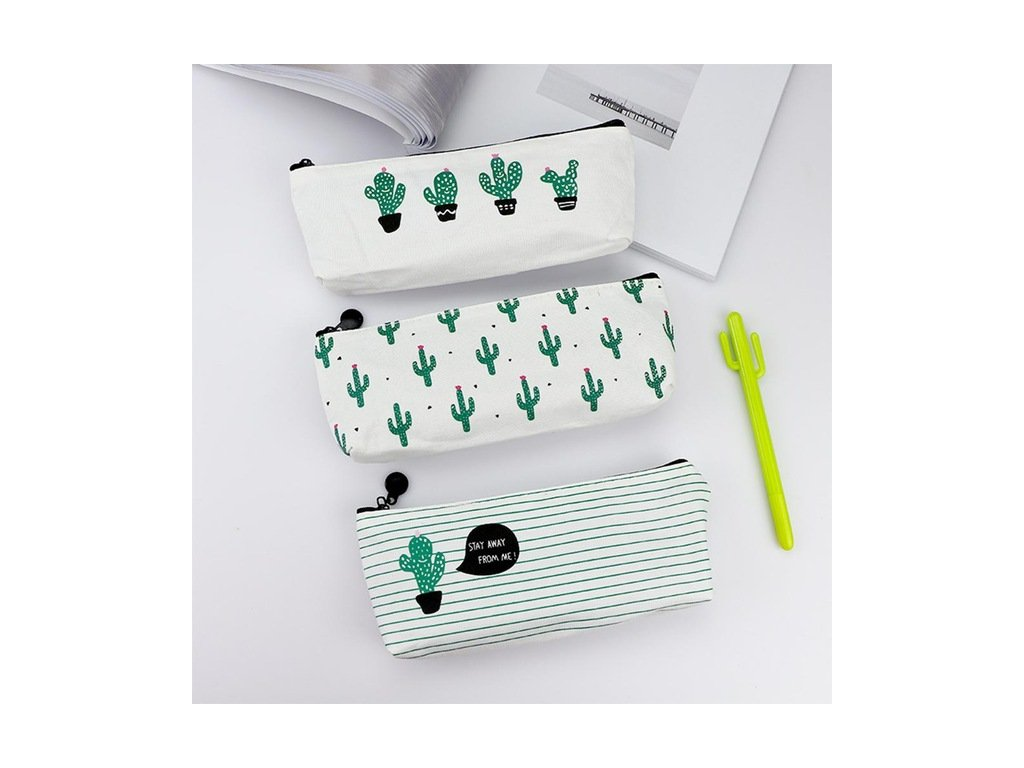 Brief Style Green Cactus Canvas Large Capacity Pencil Bag Stationery Storage Organizer Case School Supply Escolar.jpg 640x640