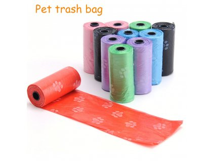 50 Rolls Dog Poop Bag Pet Waste Pick Up Plastic Garbage Bags Thickened Outside Pet Toilet