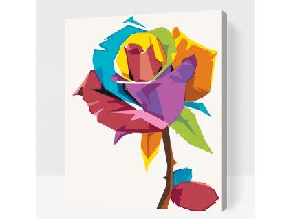 Malen nach Zahlen - Farbige Rose