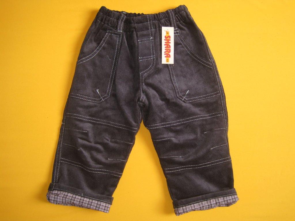 Dětské manšestrové kalhoty zateplené plátnem 55a1a103b4