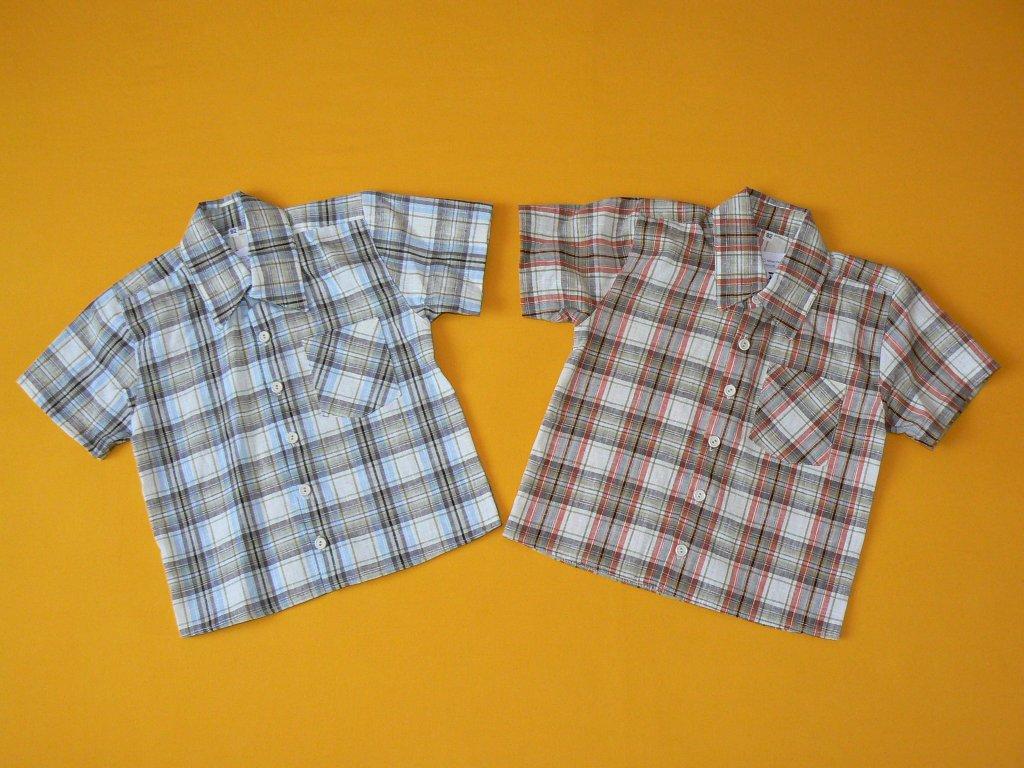 65e9833c1d4 Košile kostkovaná krátký rukáv - Bílé Slůně