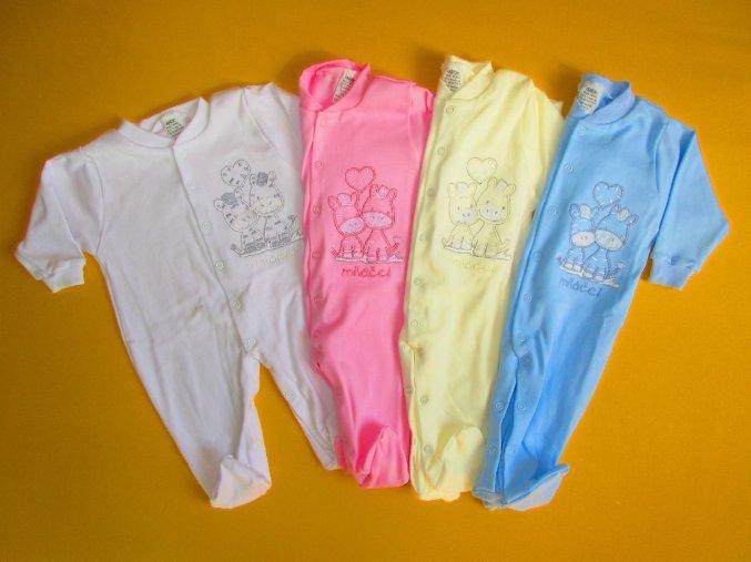 Jednobarevný pyžamový overal s výšivkou
